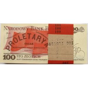 Polska, PRL, paczka bankowa 100 złotych 1988, seria PP