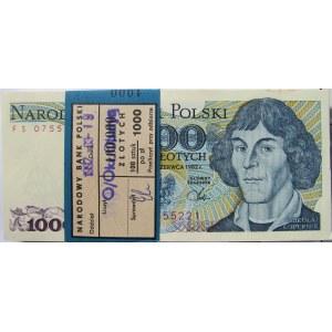 Polska, PRL, paczka bankowa 1000 złotych 1982, seria FS