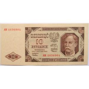 Polska, RP, 10 złotych 1948, seria AM