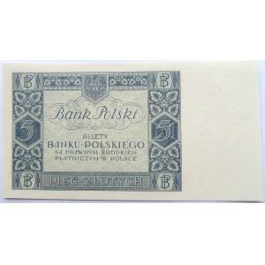 Polska, II RP, 5 złotych 1930, seria CA, UNC