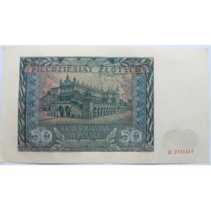 Polska, Generalna Gubernia, 50 złotych 1941, UNC/UNC-