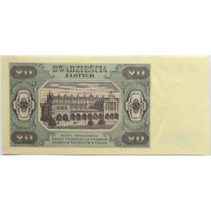 Polska, RP, 20 złotych 1948, seria HK
