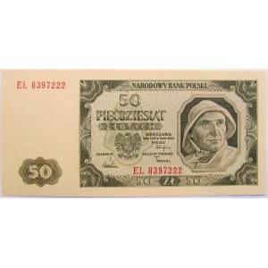 Polska, RP, 50 złotych 1948, seria EL, UNC