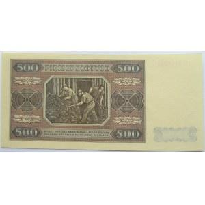 Polska, RP, 500 złotych 1948, seria CC, UNC