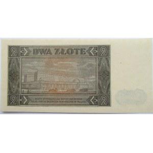 Polska, RP, 2 złote 1948, seria CF, UNC