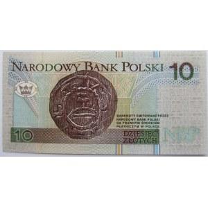 Polska, III RP, 10 złotych 1994, seria AA 00....., UNC