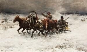 Alfred Wierusz-Kowalski, Napad wilków, przed 1885