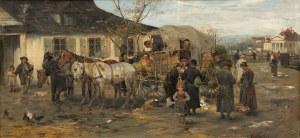 Alfred Wierusz-Kowalski, Przy wozie, 1878