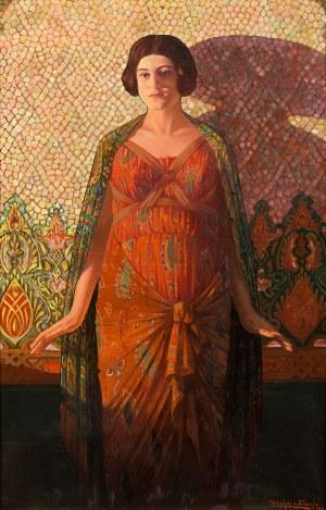 Franciszek URBAŃSKI herbu NIECZUJA, Portret secesyjny, 1924