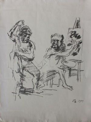 Oskar Kokoschka (1886-1980), The Action Painter (1959)