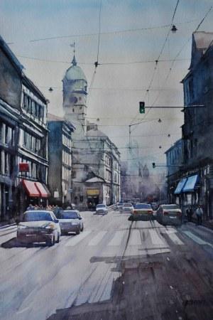 Jerzy Boberski, Kraków, ulica Krakowska, 2018 r.