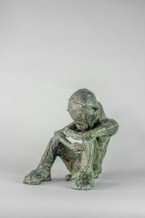 Sylwester Ambroziak (1964 Łowicz) - Mężczyzna siedzący, 2003