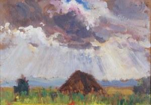Fryderyk Pautsch (1877–1950), Pejzaż letni z chatą, 1929*