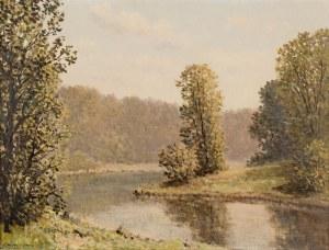 Konstanty Mackiewicz (1894 Małoryta/k.Brześcia - 1985 Łódź), Pejzaż z wodą