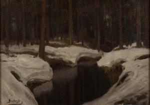 Roman Bratkowski (1869 Lwów - 1954 Wieliczka), Zimowa rzeka