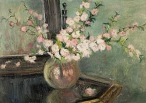 Anna Maślakiewicz-Brzozowska (1912-1986), Kwitnąca jabłoń w szklanym wazonie
