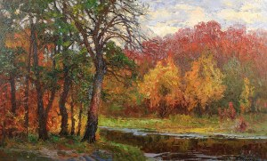 Jerzy Pogorzelski (1926 Grodno – 2003 Czestochowa), Jesień nad rzeką
