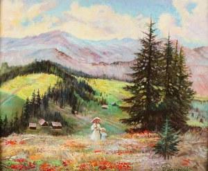 Jerzy Pogorzelski (1926 Grodno – 2003 Czestochowa), Na łące górskiej