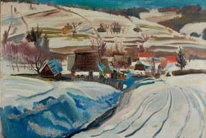 Stanisław Borysowski (1901 Lwów - 1988 Toruń)Pejzaż zimowy z Podhala