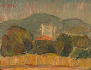 Maurice Blond (1899 Łódź – 1974 Clamart), Pejzaż z łanami zbóż