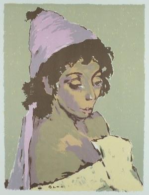Bencion (Benn) Rabinowicz (1905 Białystok - 1989 Paryż), Cyganka, z teki Benn, wydawnictwo Louis Hautecoeur, Paryż 1964 r.