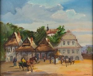 Stanisław Jan Łazorek (1938 Aksamanice-2000 Kazimierz Dolny), Na rynku w Kazimierzu, 1979 r.