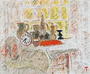 Wacław TARANCZEWSKI (1903-1987), Martwa natura z zegarem