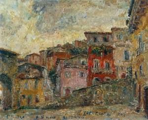 Włodzimierz ZAKRZEWSKI (1916-1992), L'Aquila - Piazza di Porta Bazzano, 1964