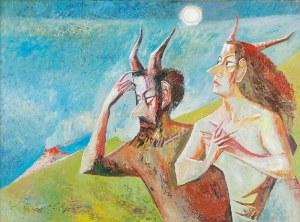 """Iwan KULIK (ur. 1959), Ilustracja do """"Mistrza i Małgorzaty"""" Michaiła Bułhakowa, 2004"""