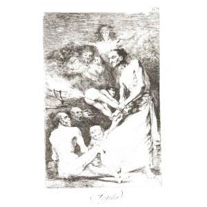 Francisco GOYA Y LUCIENTES (1746-1828), Sopla - Tchnienie, z cyklu Caprichos 1799, wydanie III