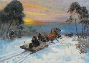 Jerzy POTRZEBOWSKI (1921-1974), Wyjazd na polowanie