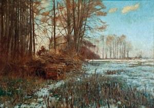 Michał GORSTKIN WYWIÓRSKI (1861-1926), Zimny poranek, ok. 1915