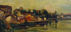 Michel ADLEN (1898-1980), Pejzaż z Sekwaną, 1954