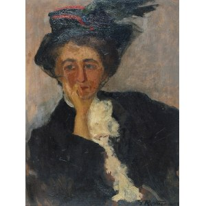 Tadeusz RYCHTER (1870-1943), Portret artystki Heleny Arkawin, 1908