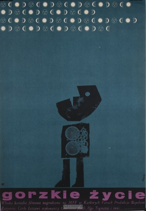 Jerzy Flisak (1930–2008), Plakat filmowy Gorzkie życie, 1965