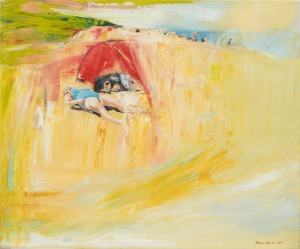 Joanna Burda (1976), Plaża - sektor dla psów (2014)