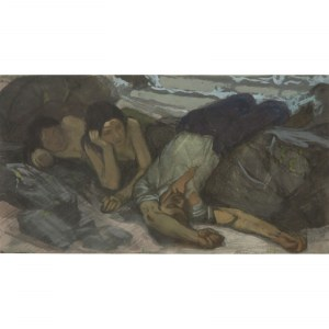 Max Friese (1883 – po 1954) Dwie kobiety z pijakiem