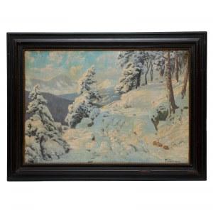 Paul Weimann (1867 Wrocław – 1945 Jelenia Góra?) Zimowy widok na masyw Śnieżki