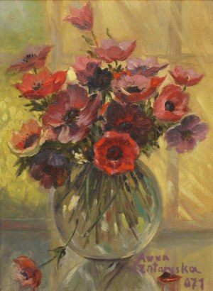 Anna Czartoryska (1887 – 1980) Wazon z kwiatami