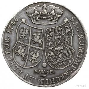talar 1746, Drezno; Aw: Popiersie w prawo i napis wokoł...