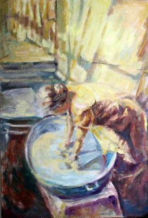 Piotr Pachecki, Kobieta przy praniu, 2019