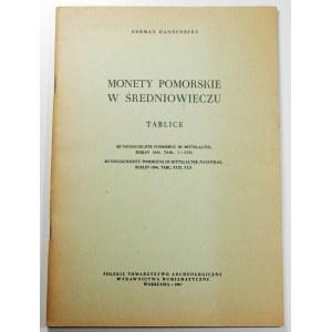 Herman Dannenberg, Monety pomorskie w średniowieczu