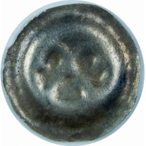 Pomorze Zachodnie, Biskupstwo Kamieńskie – Kołobrzeg XIV wiek, Brakteat - Dwa skrzyżowane pastorały