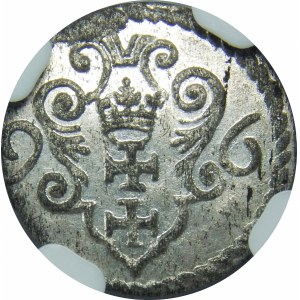 Zygmunt III Waza, Denar Gdańsk 1596 – duże cyfry daty