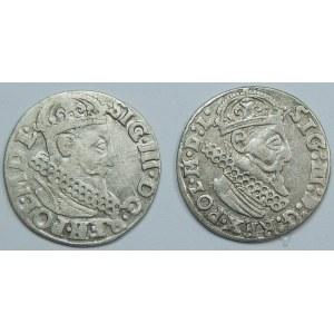 Zygmunt III Waza, Trojak Kraków - zestaw (szt.2)