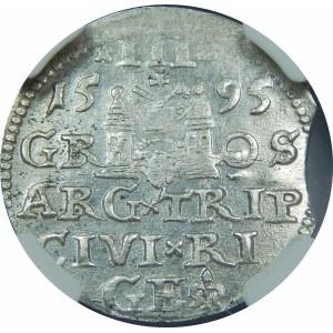 Zygmunt III Waza, Trojak Ryga 1595