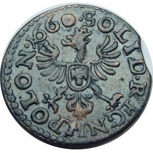 Jan II Kazimierz, szeląg koronny Ujazdów 1660 TLB