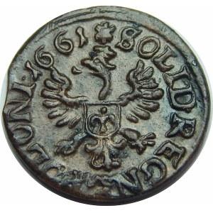 Jan II Kazimierz, szeląg koronny Kraków 1661 TLB