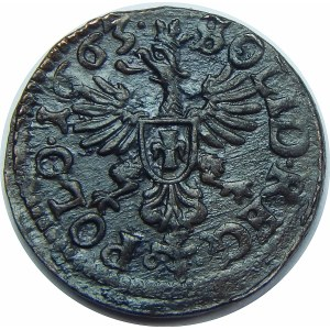 Jan II Kazimierz, szeląg koronny Ujazdów 1663 TLB