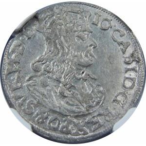 Jan II Kazimierz, Szóstak Kraków 1663 AT – bez obwódek